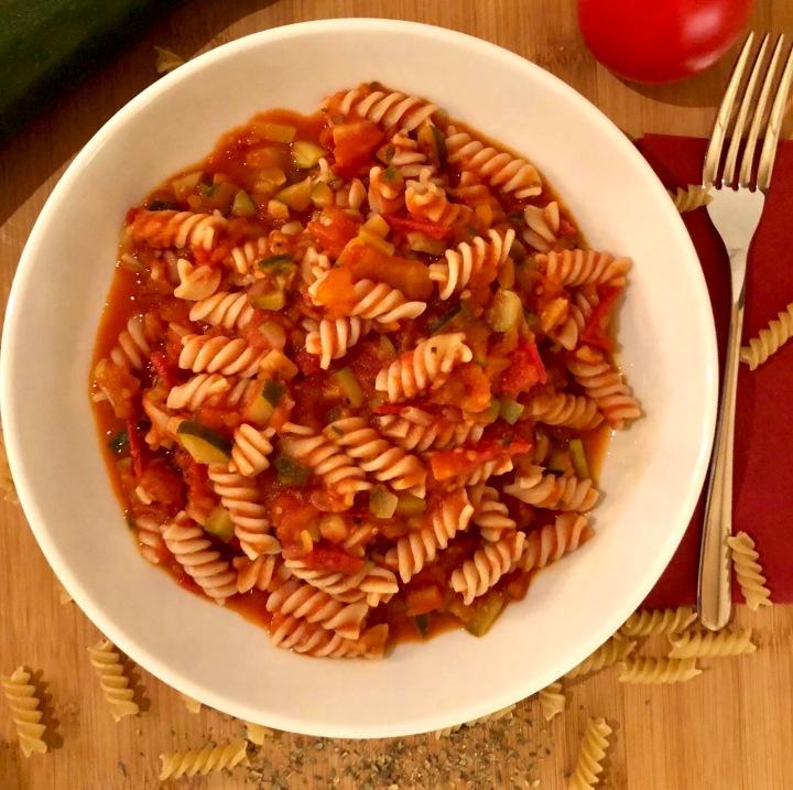 Nudeln mit Tomatensauce vegan Rezept laktosefrei