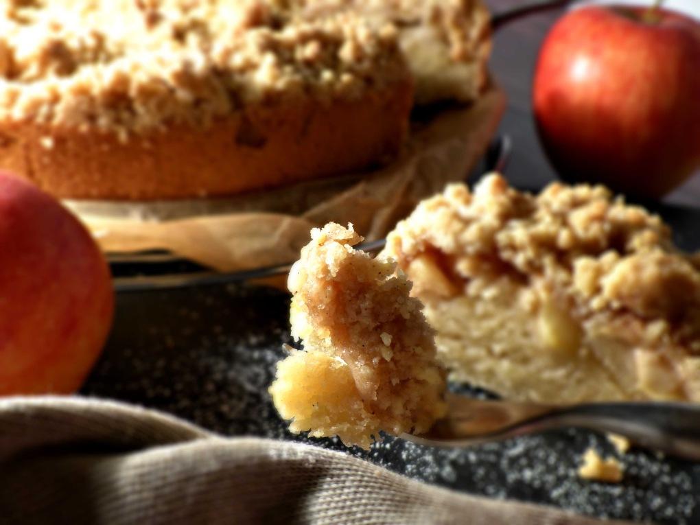 Apfel-Streusel-Kuchen vegan Rezept gewusstvegan