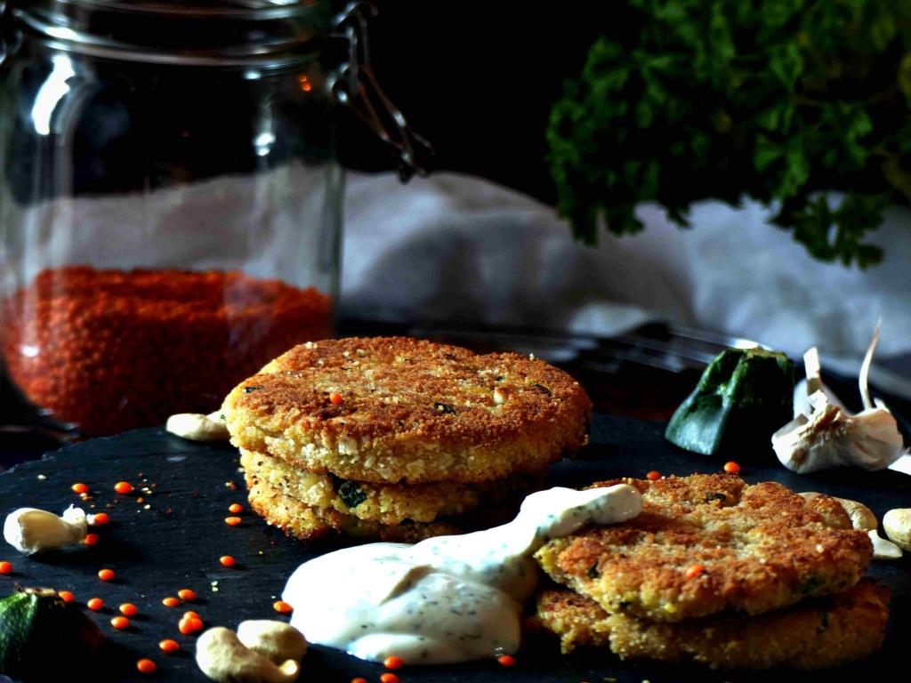 Vegane Linsen-Zucchini-Bratlinge Rezept